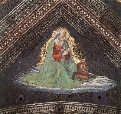 SAINT MARC ÉVANGÉLISTE, Domenico Ghirlandaio, Cappella Tornabuoni, Santa Maria Novella, Florence