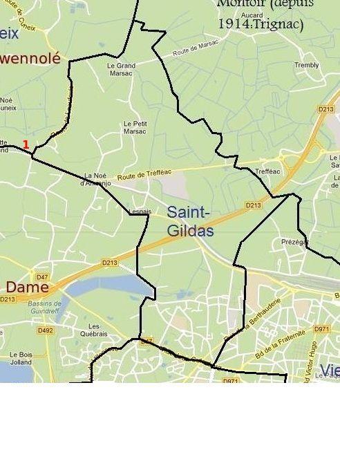 Frairie de Saint Gildas - St Nazaire - Carte Karrikell à partir de google maps