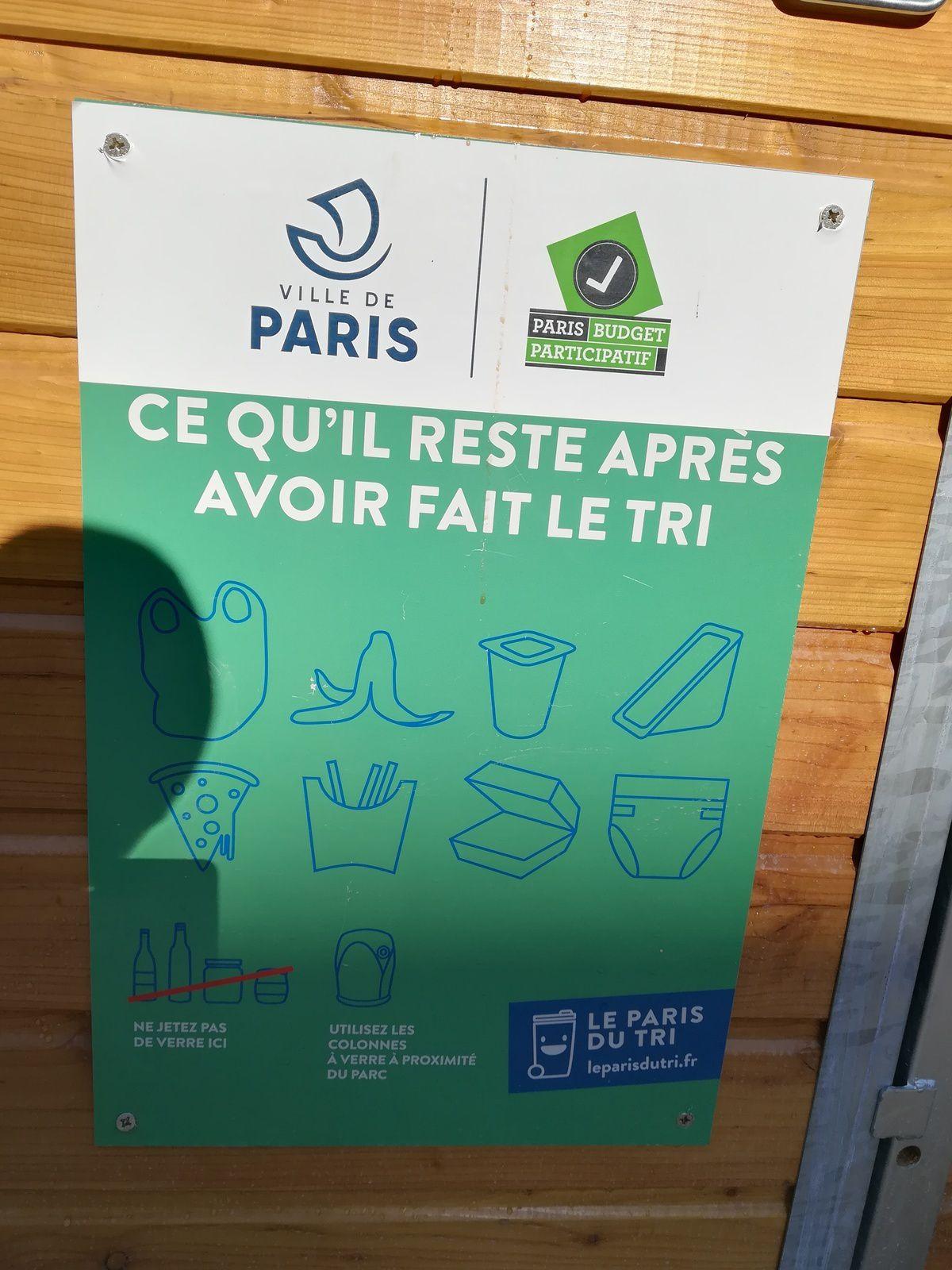 du changement au parc pour les poubelles