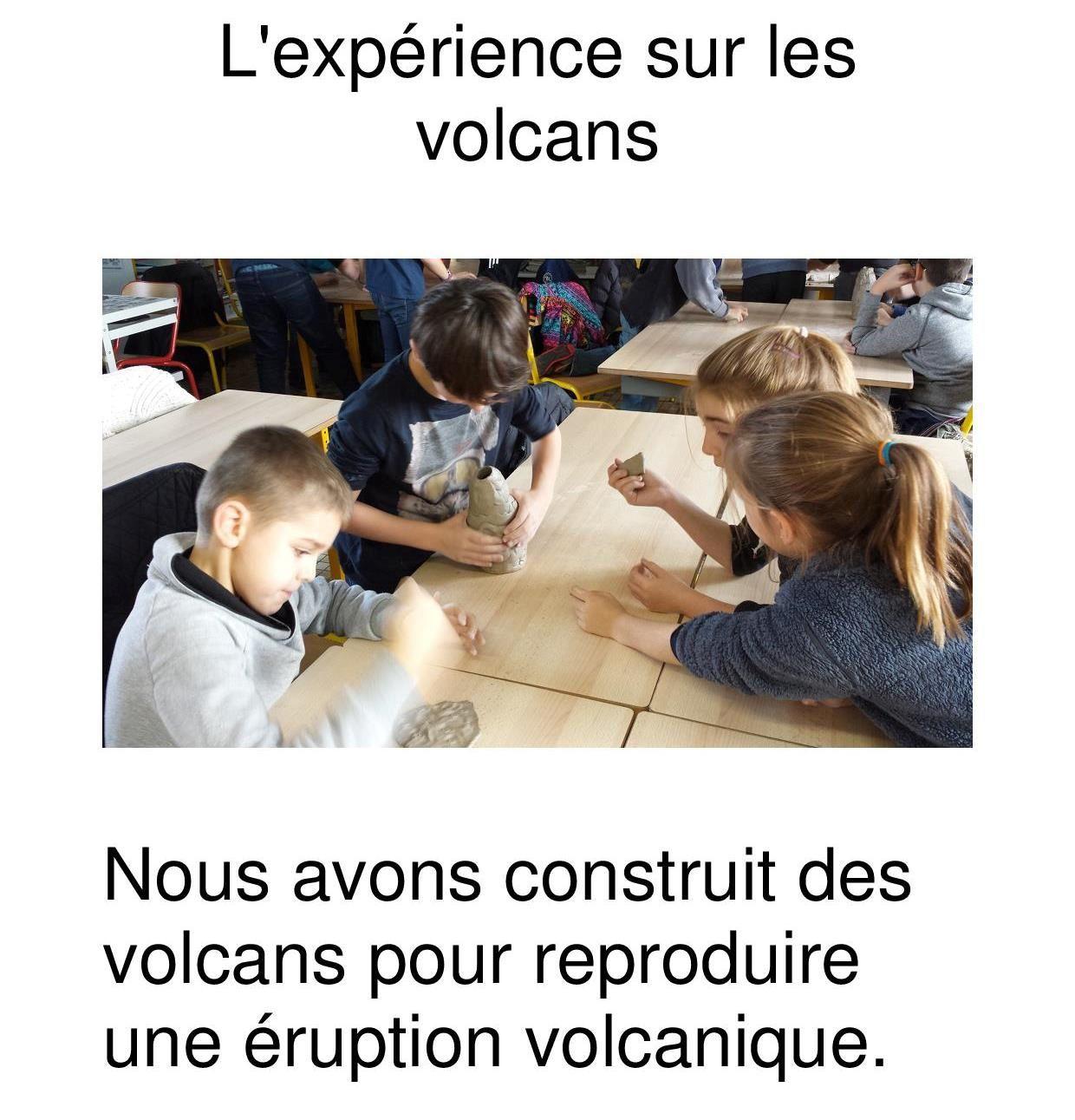 L'expérience sur les volcans