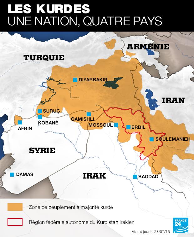 La Turquie, membre de l'OTAN, bombarde des positions kurdes en Syrie
