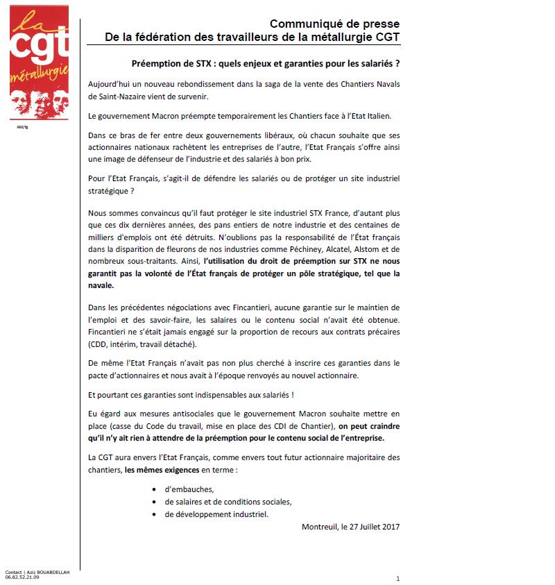 A propos de la nationnalisation des chantiers navals de Saint-Nazaire