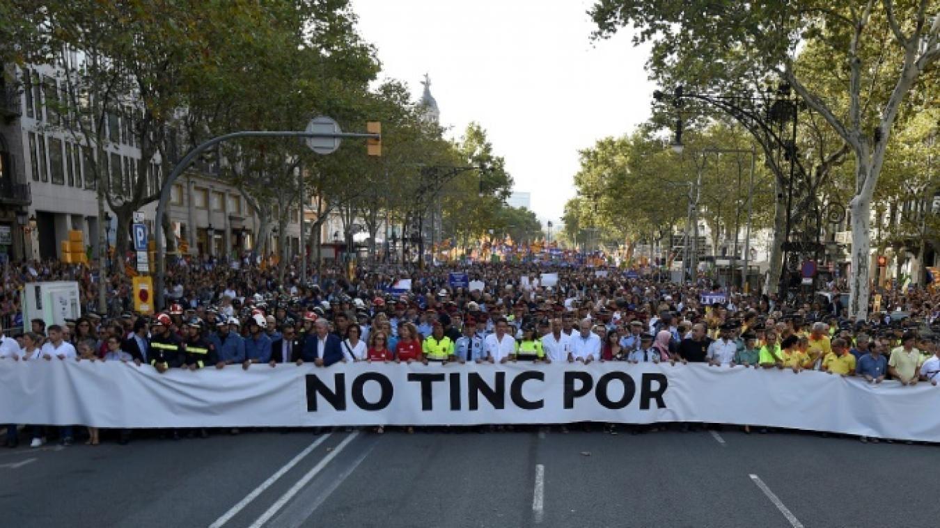 """Barcelone, ce samedi: """"NO TINC POR!"""""""