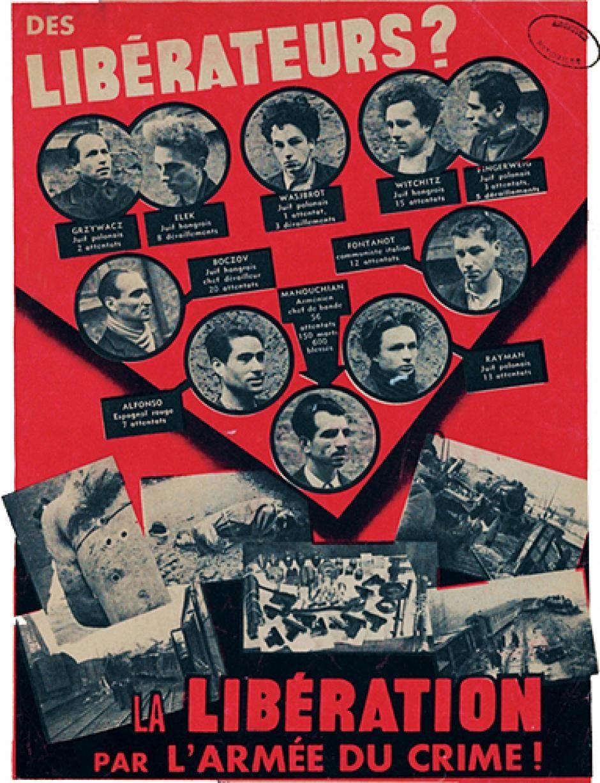 16 novembre 1943: arrestation des 23 résistants du groupe Manouchian
