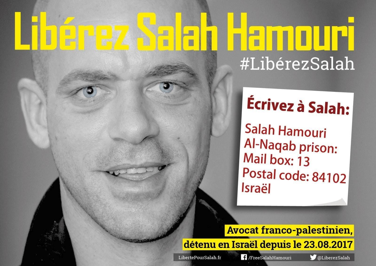 100 jours dans les geôles israéliennes pour le jeune avocat franco-palestinien Salah Hamouri