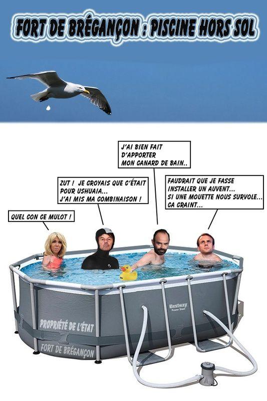 Une piscine à Brégançon pour les vacances de l'Etat c'est moi