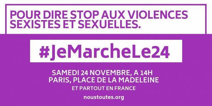 le 24 novembre 2018: Stop aux violences sexistes et sexuelles