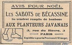 RECLAME PARUE DANS LE JOURNAL DE SUZETTE. ANCIEN MONDE DU 15 DECEMBRE 1921