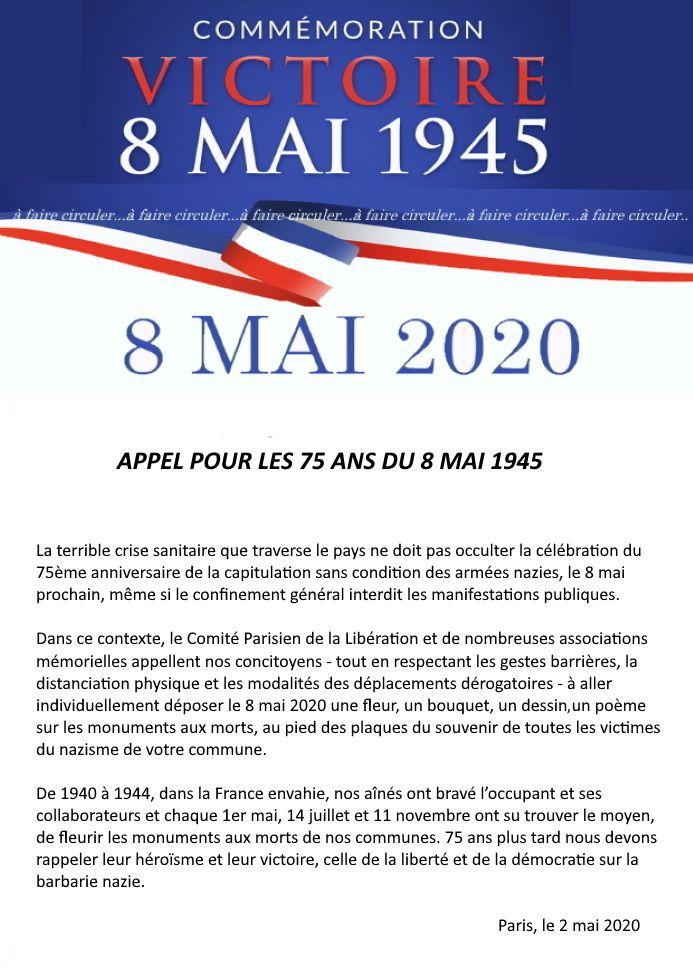8 mai 2020: 75e anniversaire de la capitulation sans condition des armées nazies