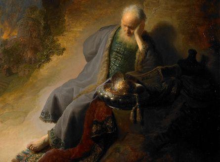 Jérémie pleure la destruction de Jérusalem