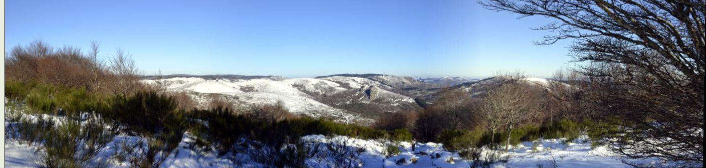 Le Caroux, Douch, dans la neige!