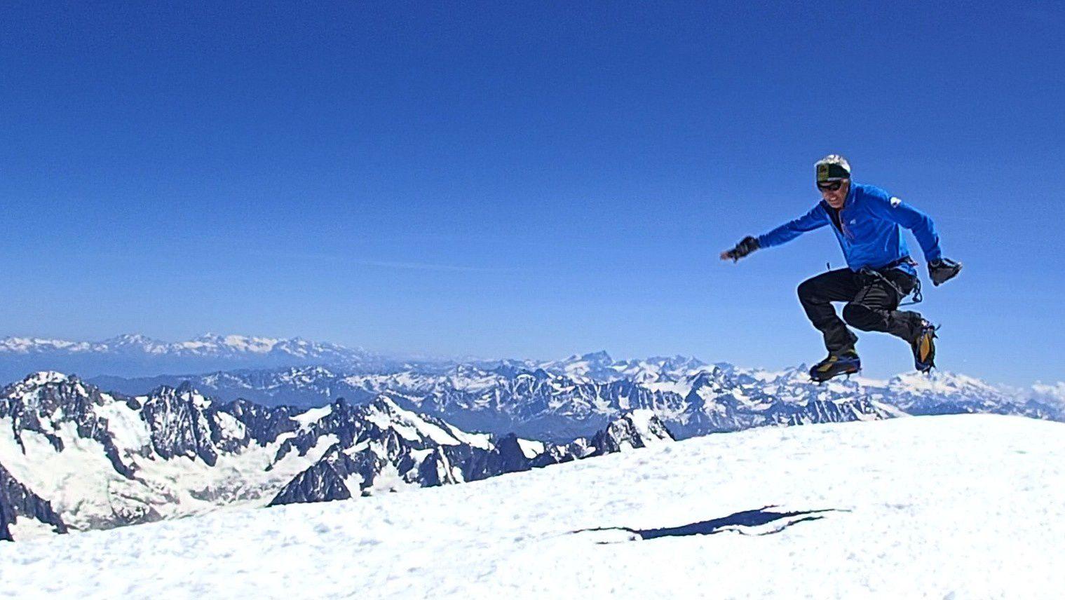 Alpinisme : Mont Blanc à la journée depuis Bionnassay