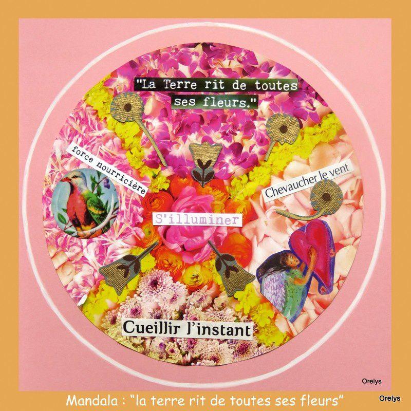"""Mandala du printemps : """"la terre rit de toutes ses fleurs"""""""