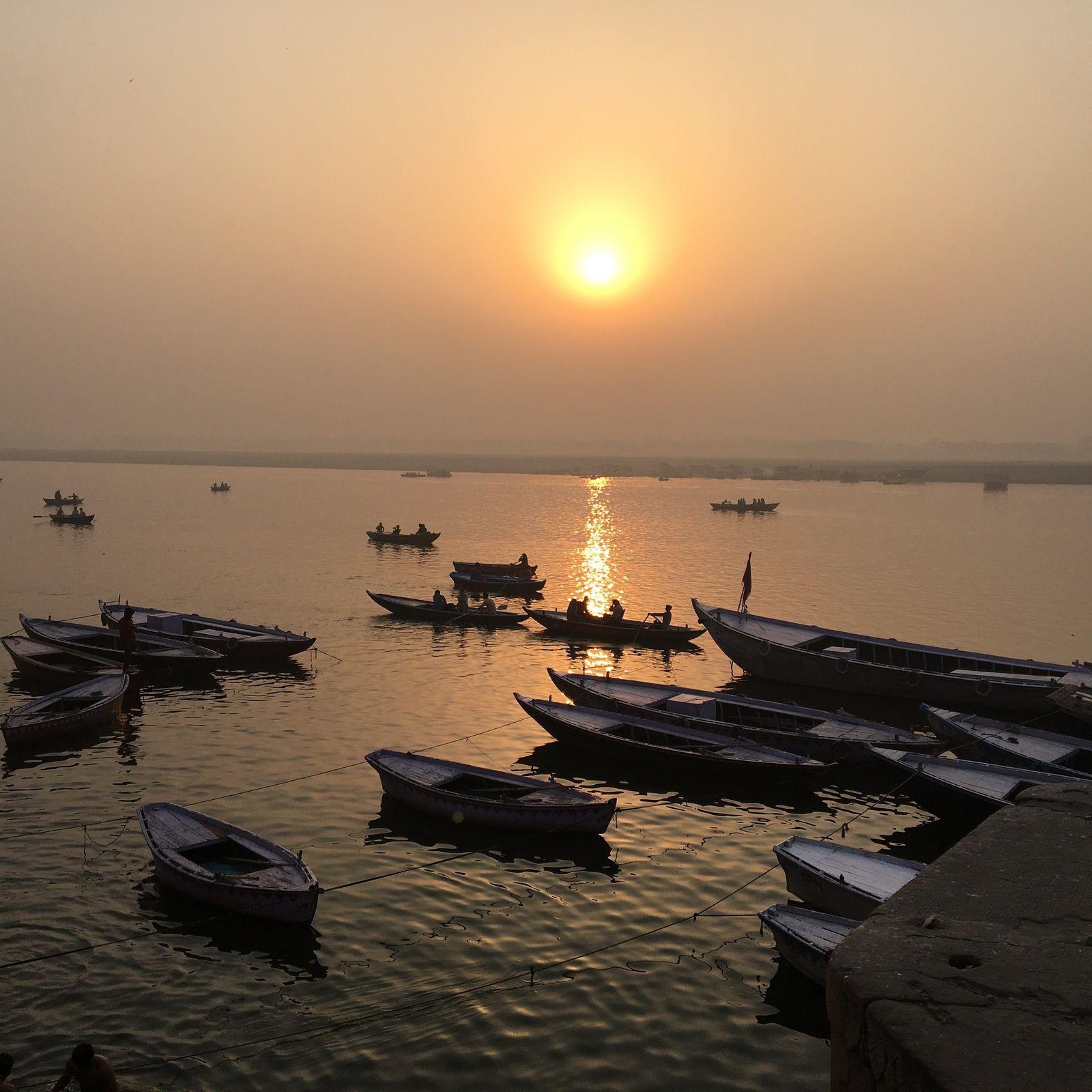 Le soleil sur le Gange, comme la promesse d'un nouveau jour !