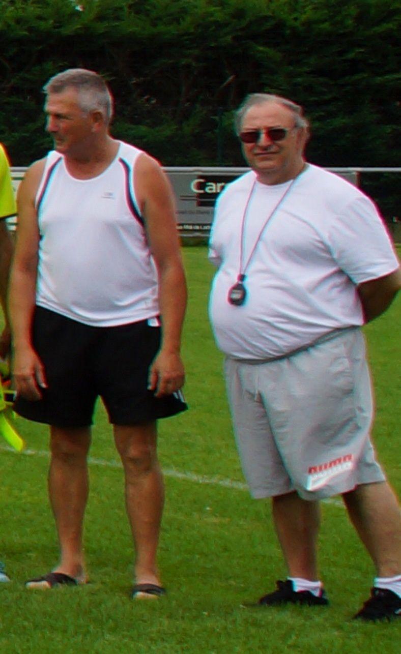 P.Curveur, président, et Juan Ortiz, entraîneur.