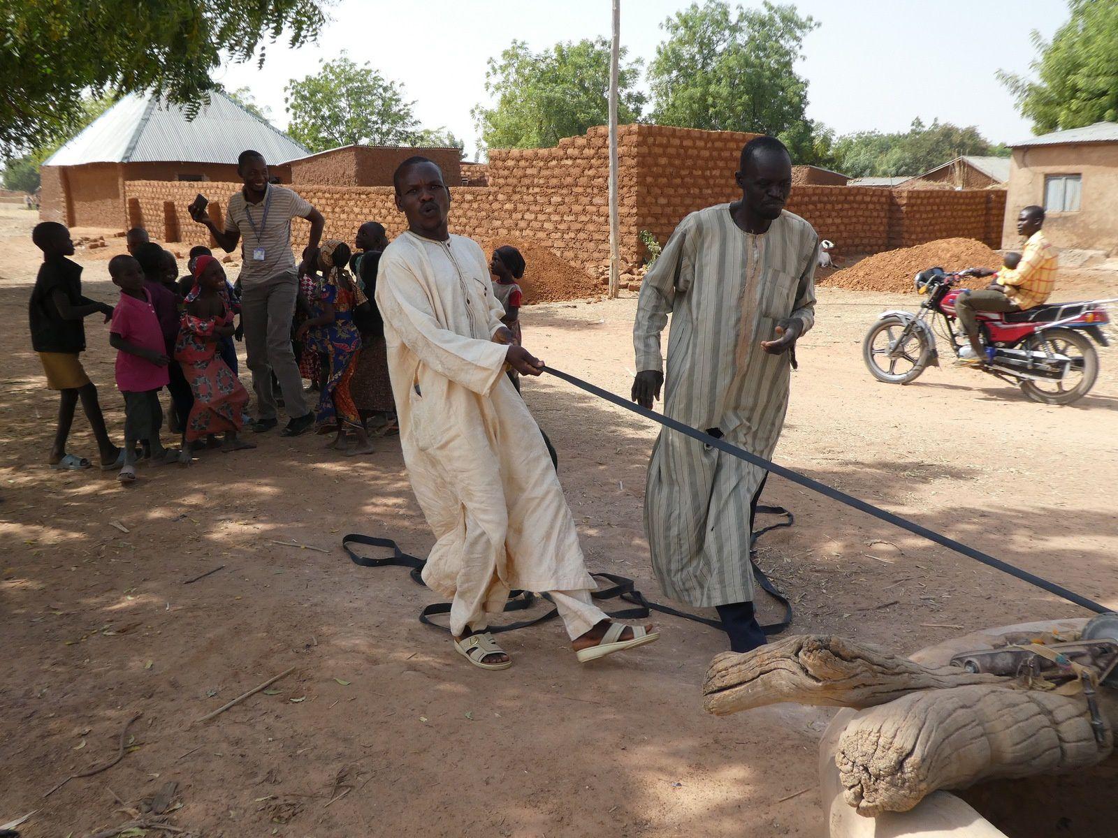 Un puits et de l'eau, Nangere LGA, Yobe, Nigéria - Janvier 2017