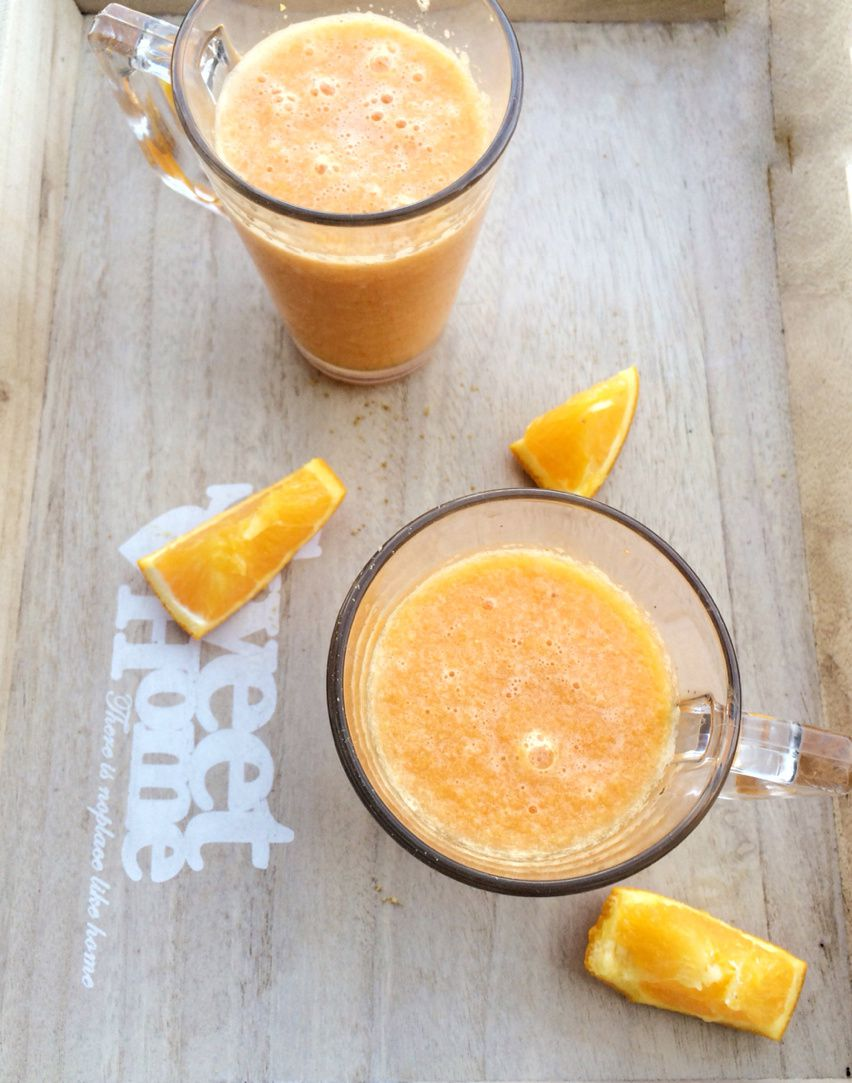 Smoothie Orange, Citron, Carotte et Gingembre