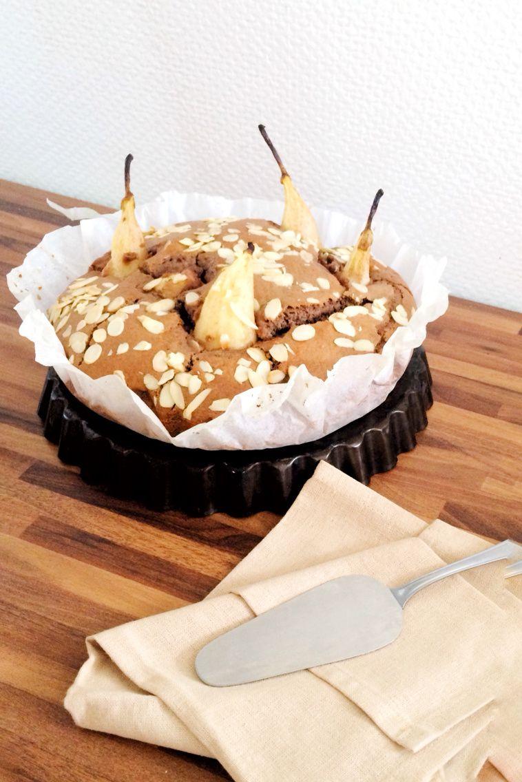 Gâteau  Chocolat Poire Amande