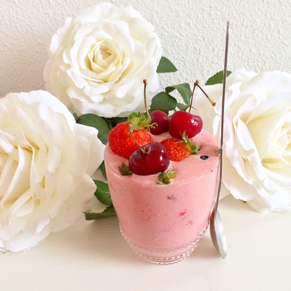 Frozen Yogurt à la Fraise