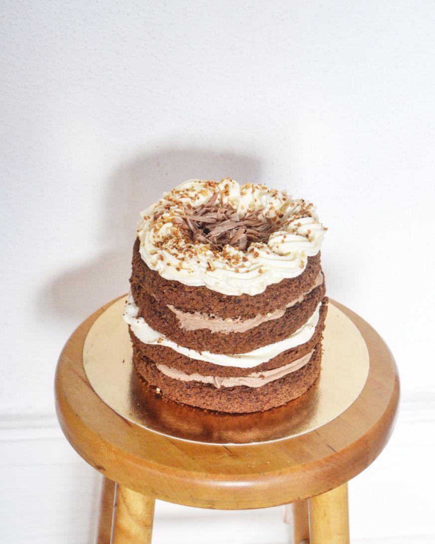 Nude Cake Chocolat Praliné Kinder Maxi & Chantilly Tonka