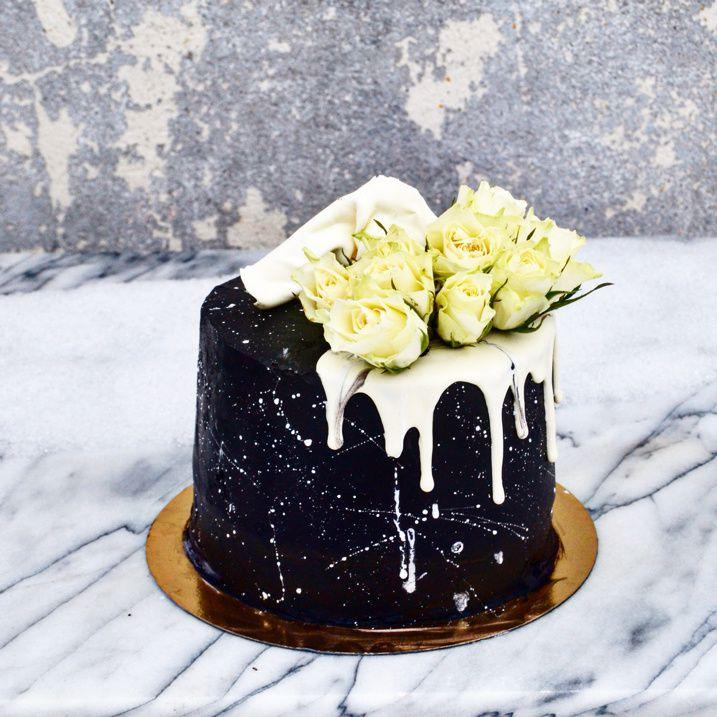 Layer Cake Blanck and White, Nutella Framboise