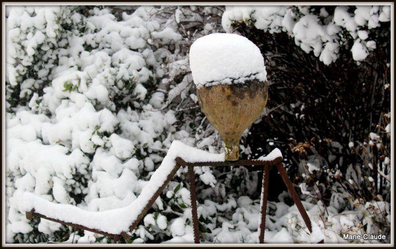 Une belle épaisseur de neige,