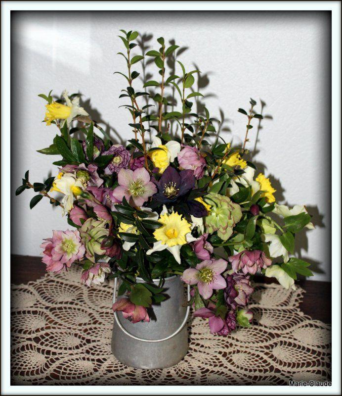 Premier bouquet de l'année jardinière,