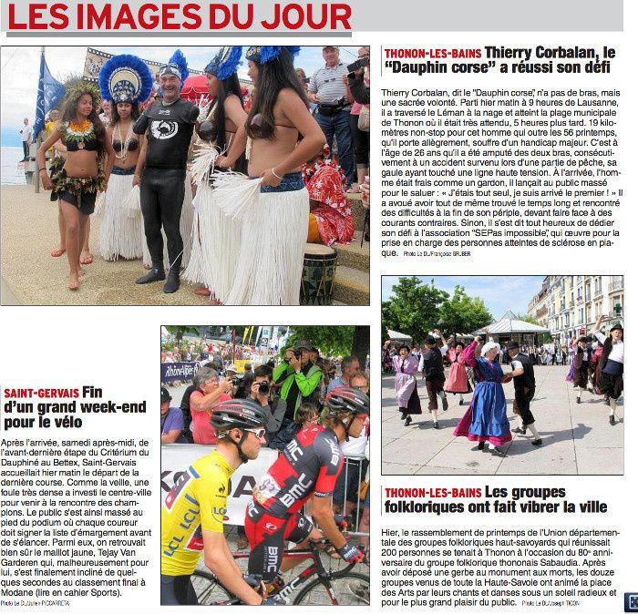 Article du 15 juin Dauphiné Libéré