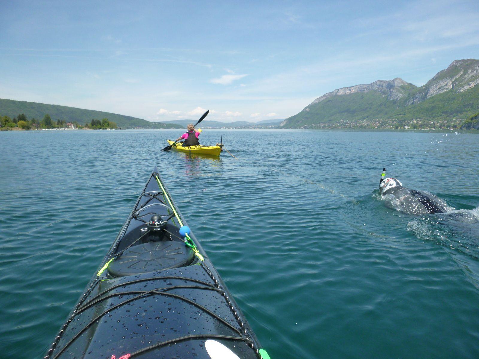 Traversée du lac d'Annecy le 07 mai 20106