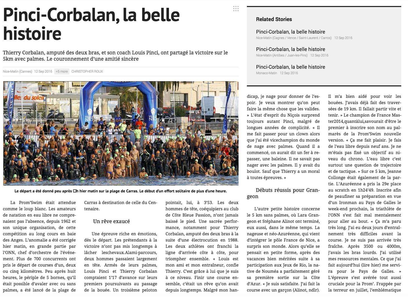 Pinci-Corbalan la belle histoire.