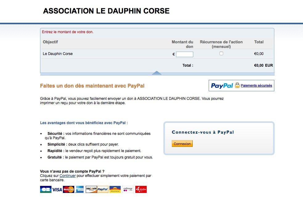 L'association rejoint Paypal