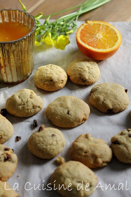 COOKIES A L'ORANGE ET AUX CANNEBERGES