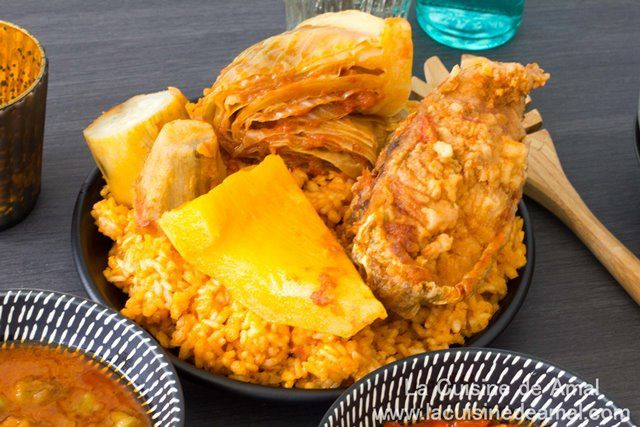 Thiebou djenne ou Tchéb Bou Gène ou Thieboudienne (Riz au poisson Sénégalais)