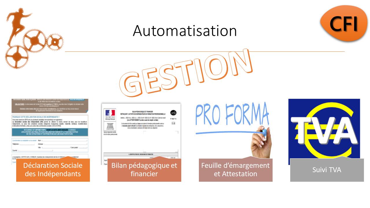 PackCFI : consultant formateur et organisme de formation - facturation, suivi, OPCO, sessions, BPF