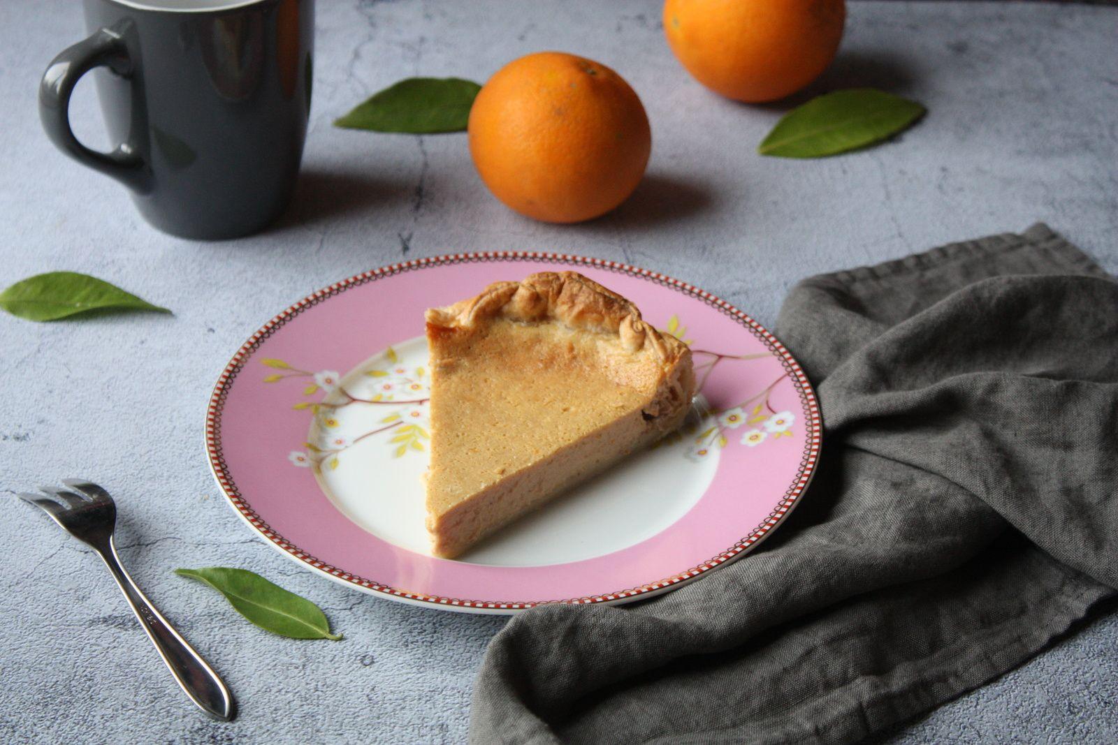 Pour le goûter, vous prendrez bien une part de tarte à l'orange soyeuse et parfumée?