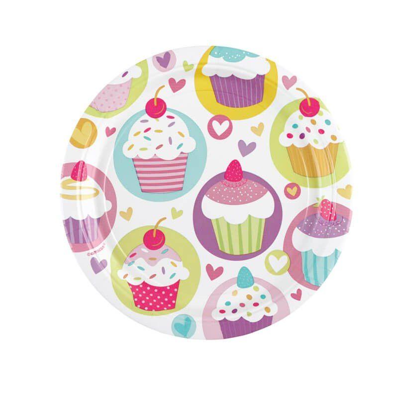 Ballons, sacs et guirlande chez Hema, Assiettes jour de fete, guimauve et sucre d'orge 123 bonbon
