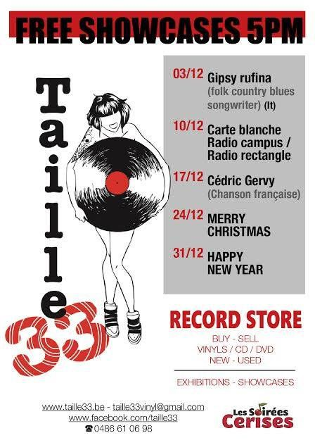 10 Showcases Taille 33 record store
