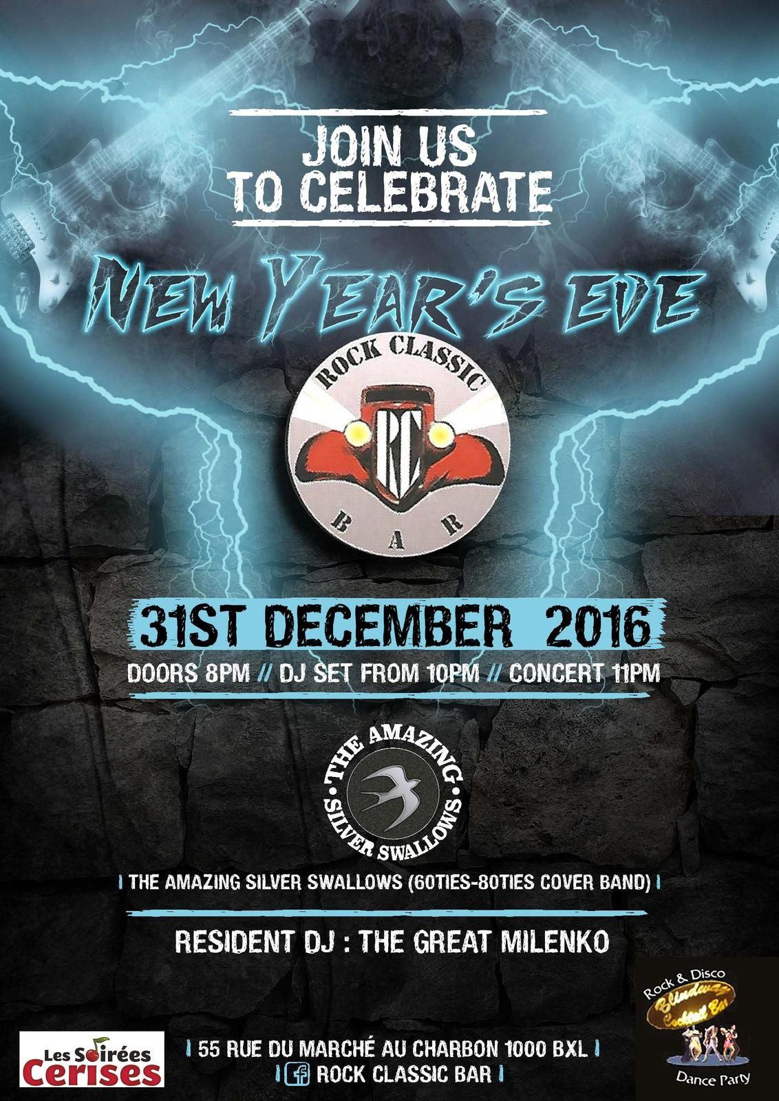 ▶ The Amazing silver swallows @ Rock Classic (New Year's eve) - 31/12/2016