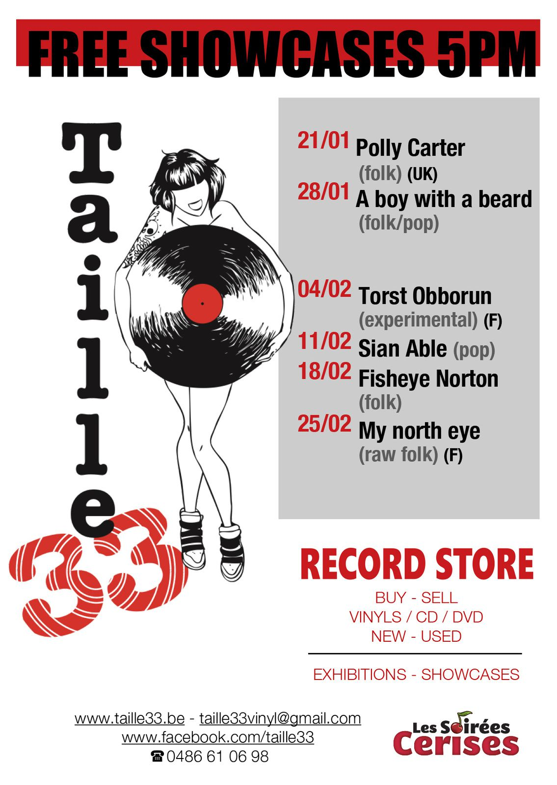 ▶ Prochains showcases @ Taille33 record store