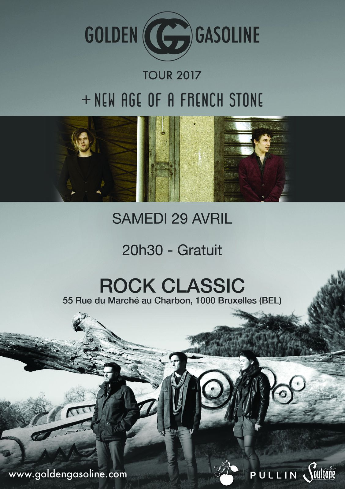 ▶ Golden Gasoline (F) + New Age of a french stone (F) @ Rock Classic - 29/04/2017 - 21h00 - Entrée gratuite !