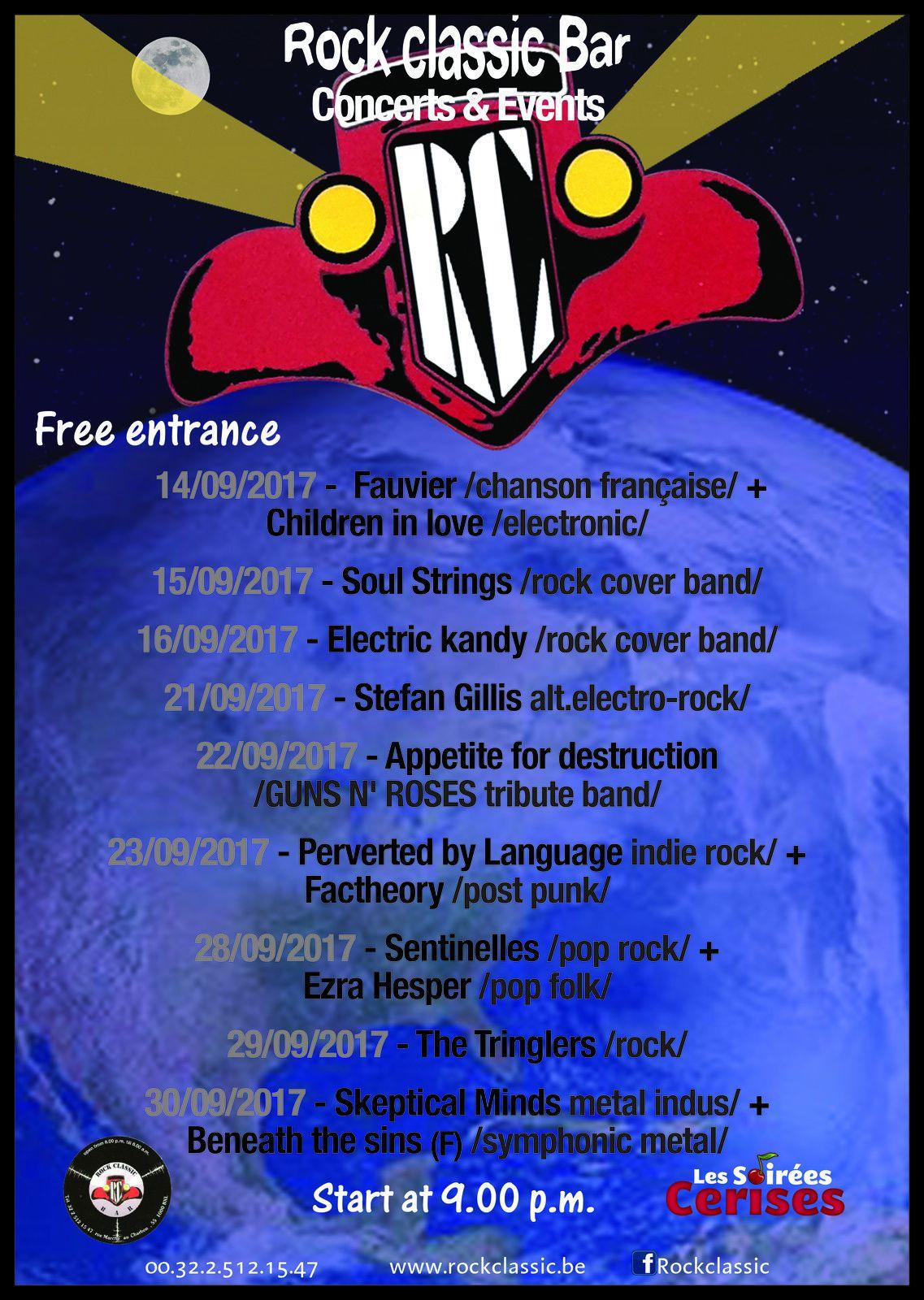 ▶ La programmation du mois de septembre au Rock Classic
