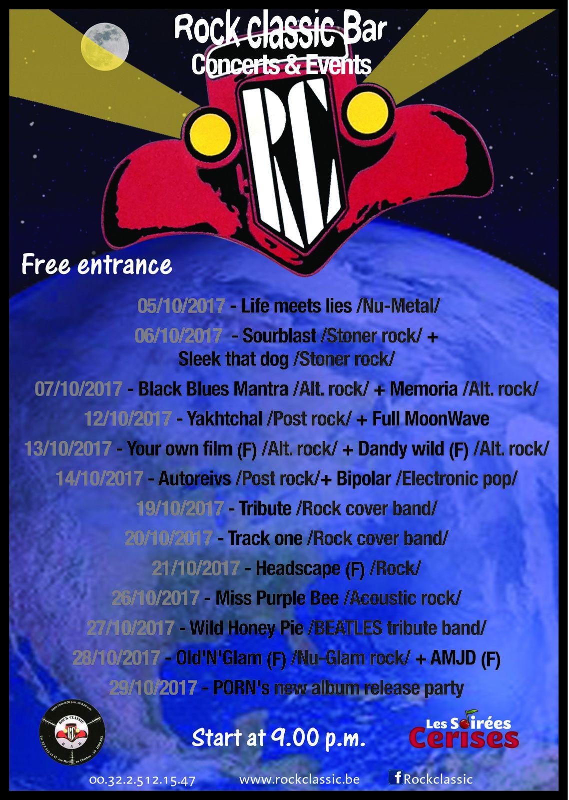 ▶ La programmation du mois d'octobre au Rock Classic