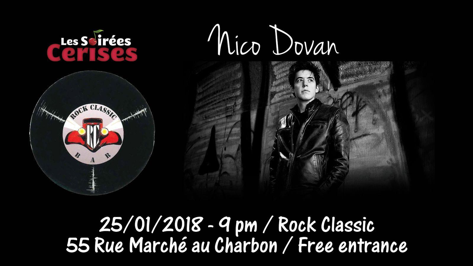▶ Nico Dovan @ Rock Classic - 25/01/2018 - 21h00 - Entrée gratuite !