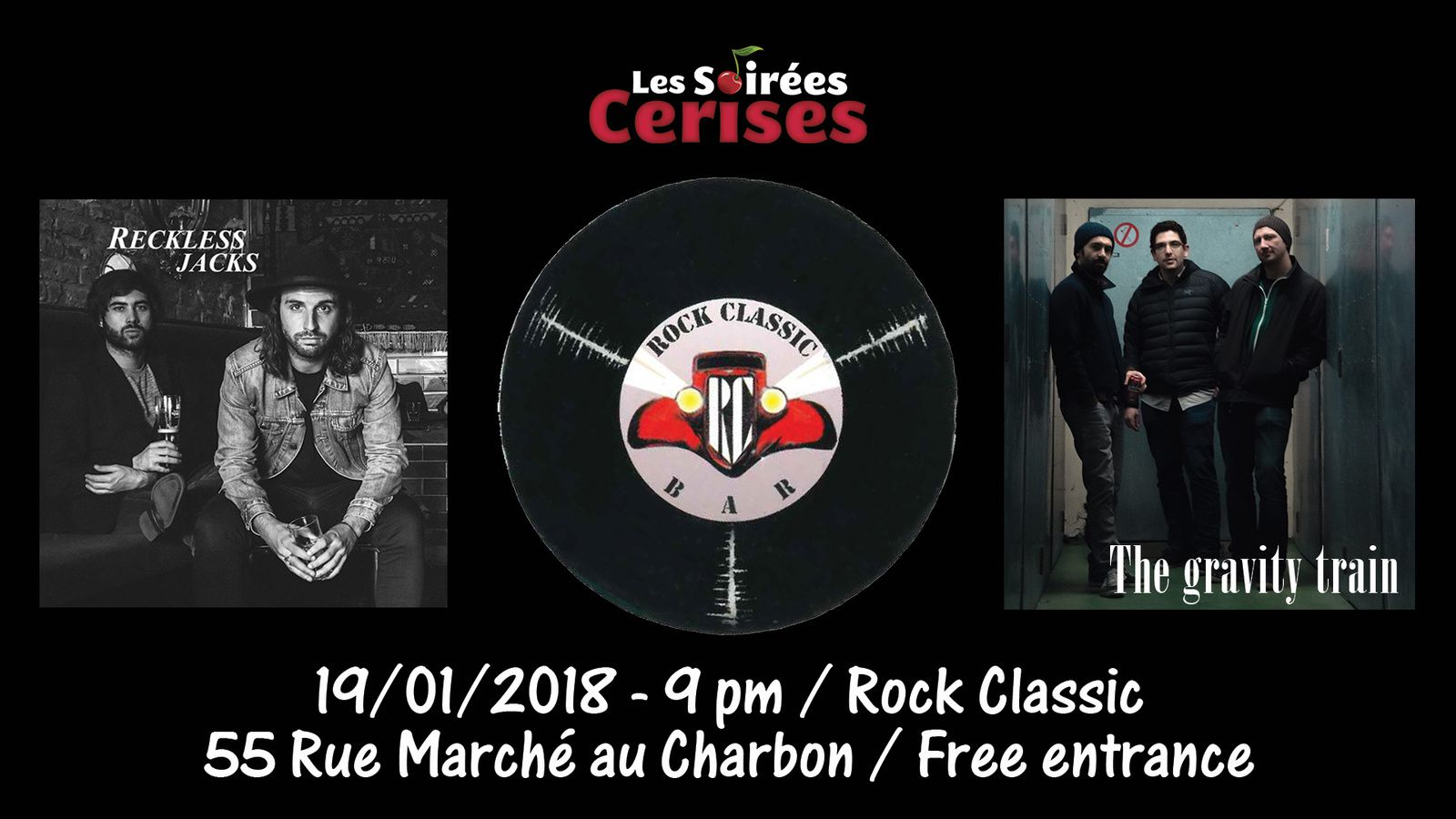 ▶ Reckless Jacks (UK) + The Gravy train @ Rock Classic - 19/01/2018 - 21h00 - Entrée gratuite !