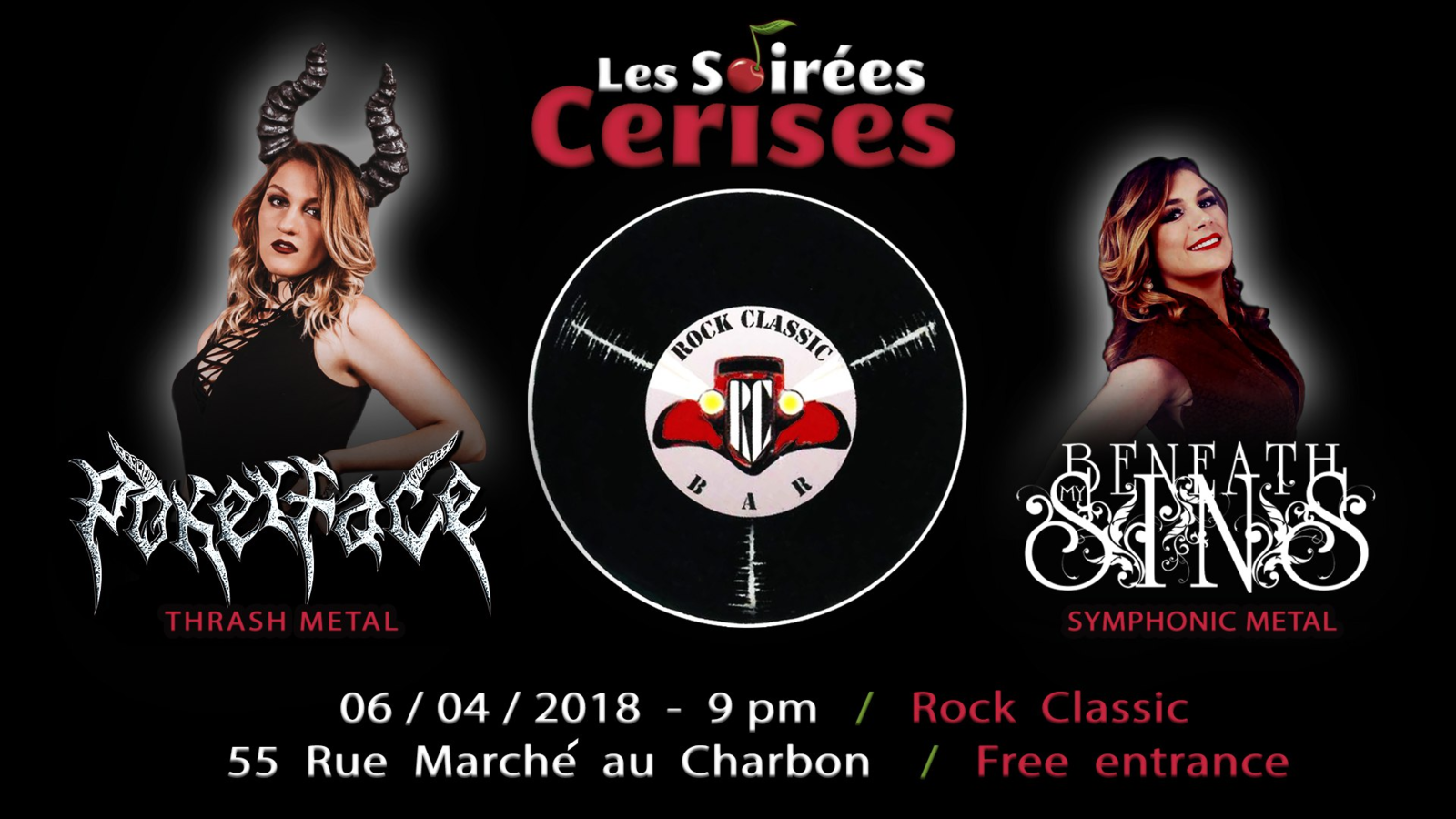 ▶ Pokerface (Russia) + Beneath my sin (F) @ Rock Classic - 21h00 - Free entrance