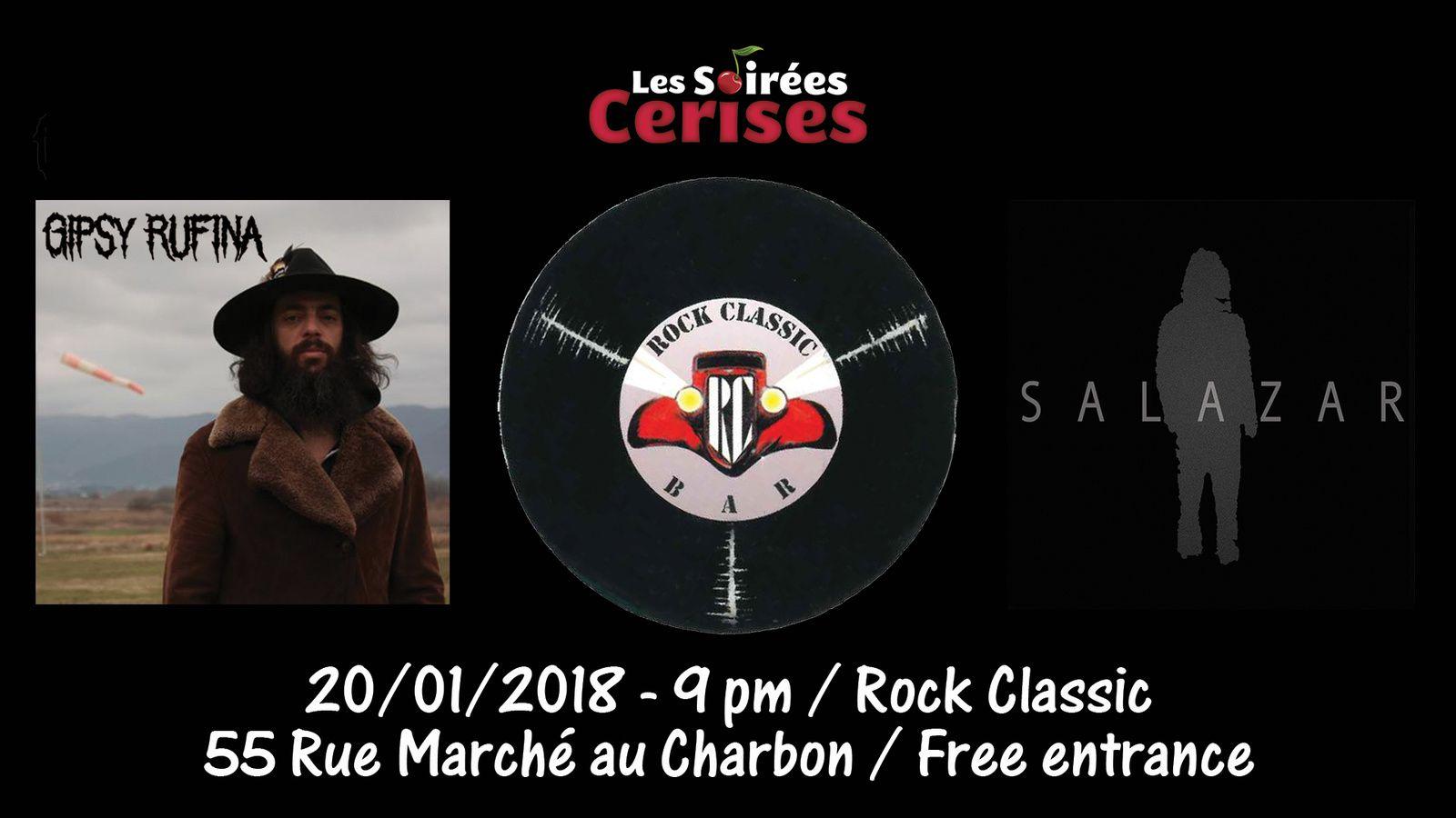 ▶ Salazar + Gipsy Rufina (It) @ Rock Classic - 20/01/2018 - 21h00 - Entrée gratuite !