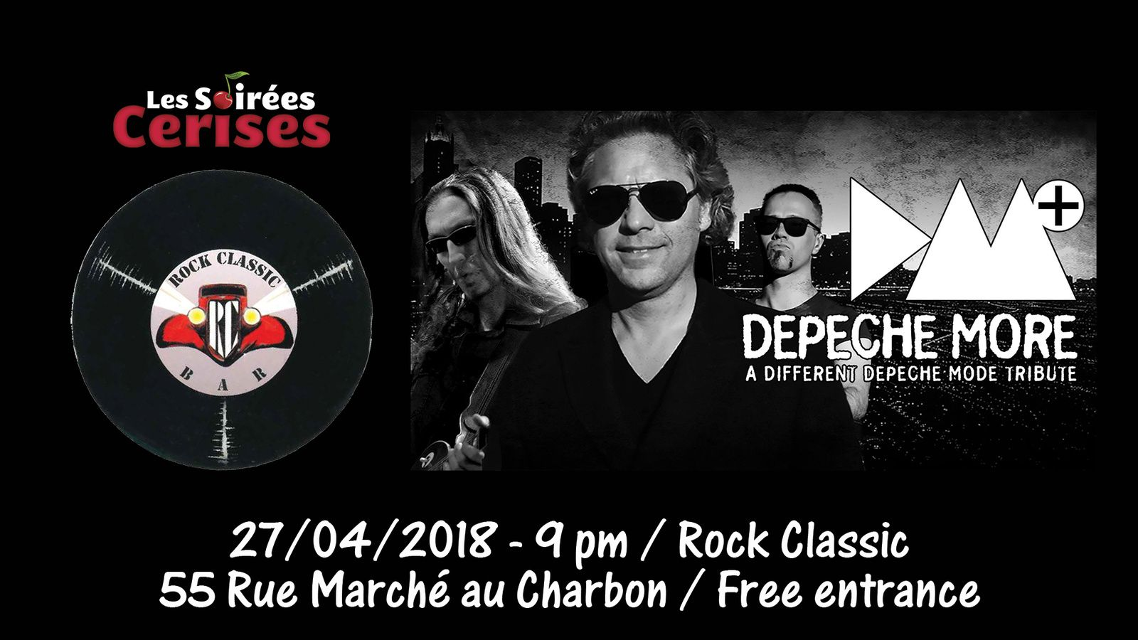 ▶ Depeche More (DEPECHE MODE tribute band) @ Rock Classic - 27/04/2018 - 21h00 - Entrée gratuite / Free entrance