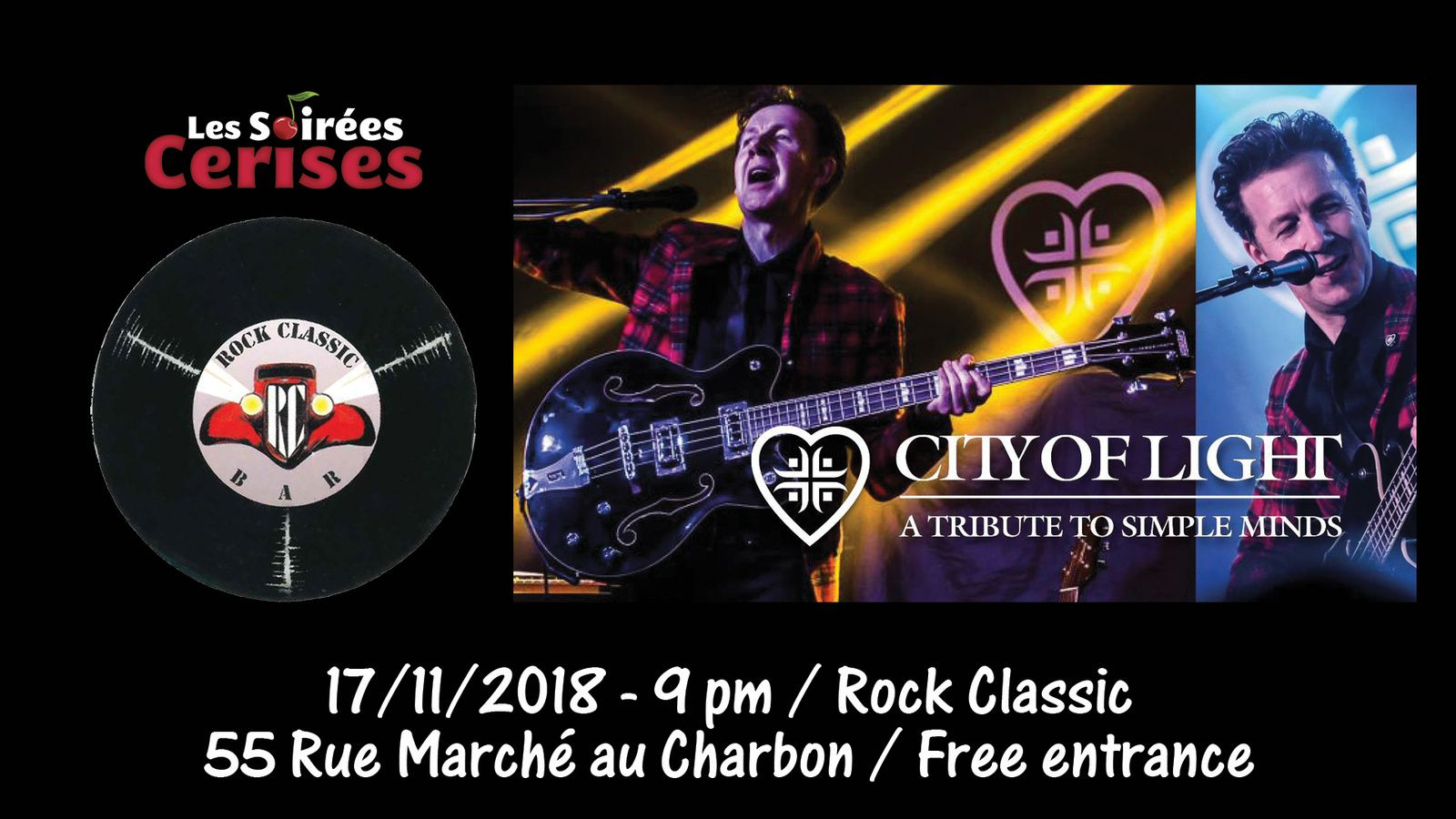 ▶ City of Light (Simple Minds tribute band) @ Rock Classic - 17/11/2018 - 21h00 - Entrée gratuite !