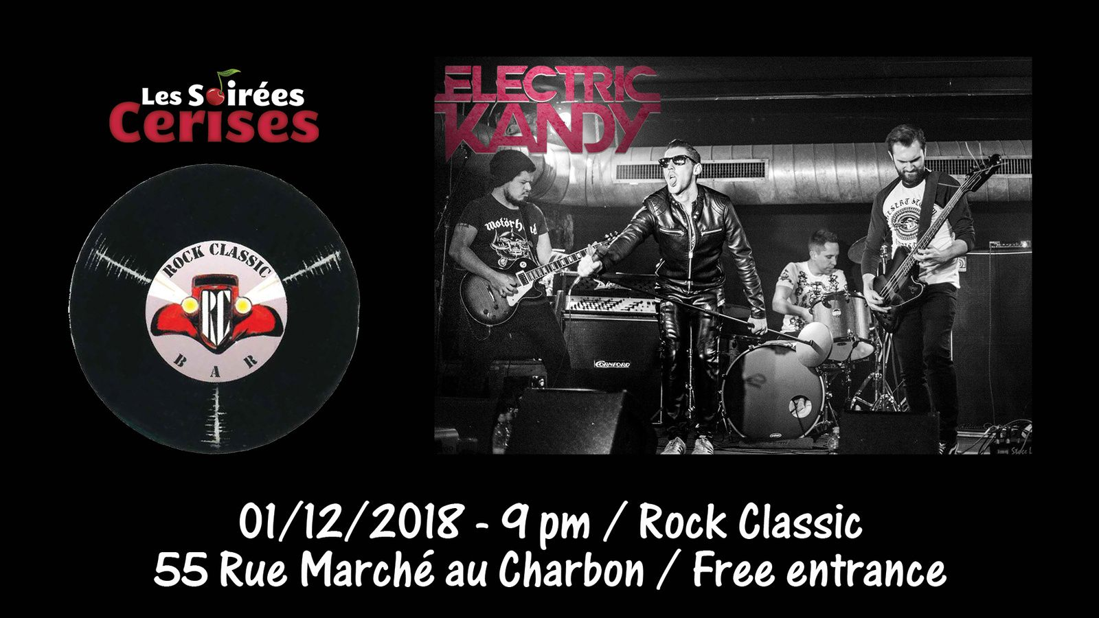 ▶ Electric Kandy @ Rock Classic - 01/12/2018 - 21h00 - Entrée gratuite!
