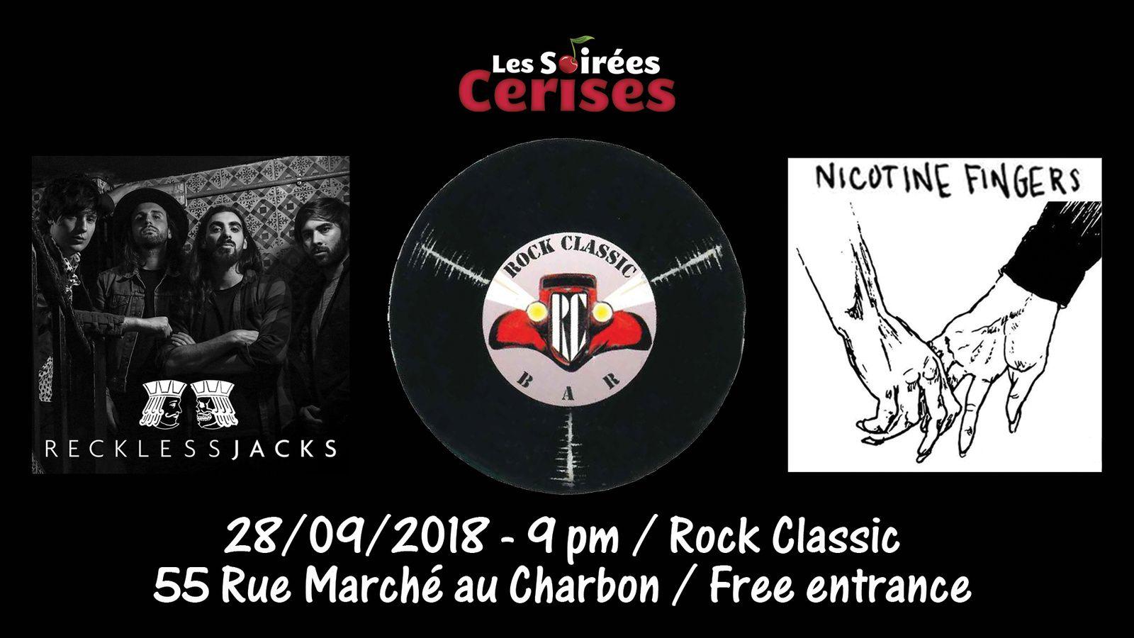 ▶ Reckless Jacks (UK) + Nicotine fingers @ Rock Classic - 28/09/2018 - 21h00 - Entrée gratuite / Free entrance
